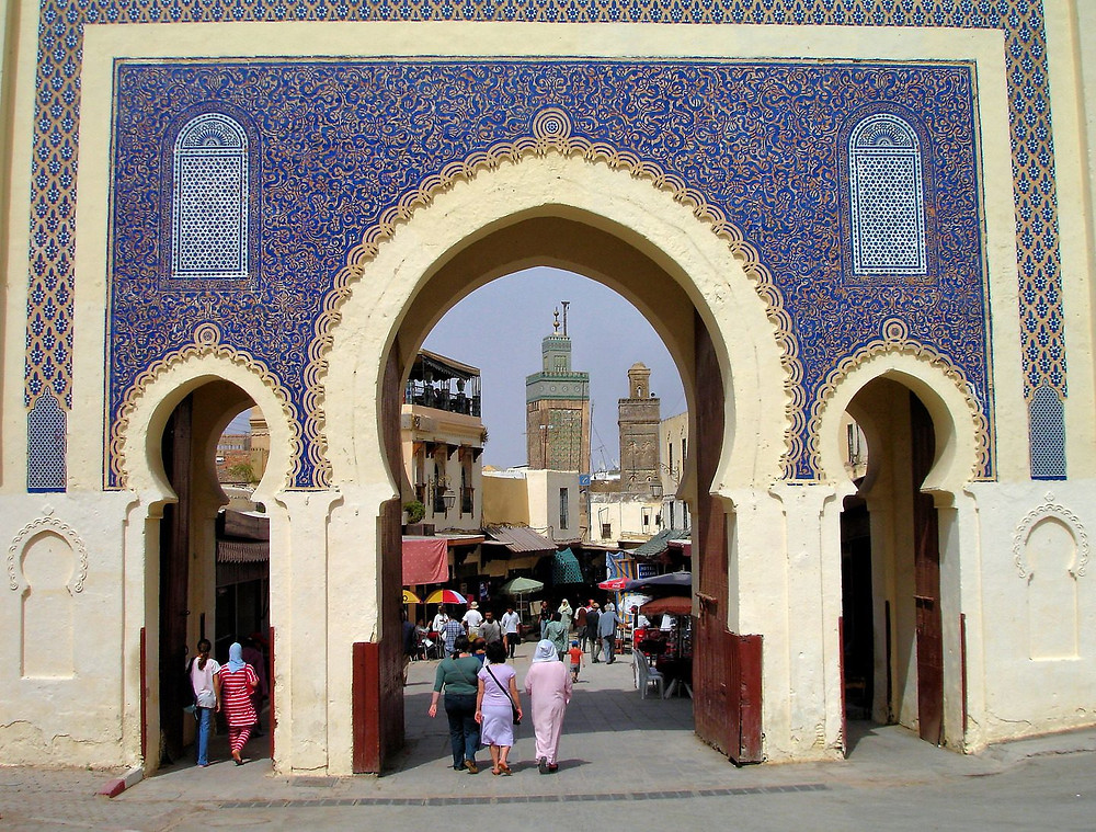 The Blue Gate in Fez, Morocco