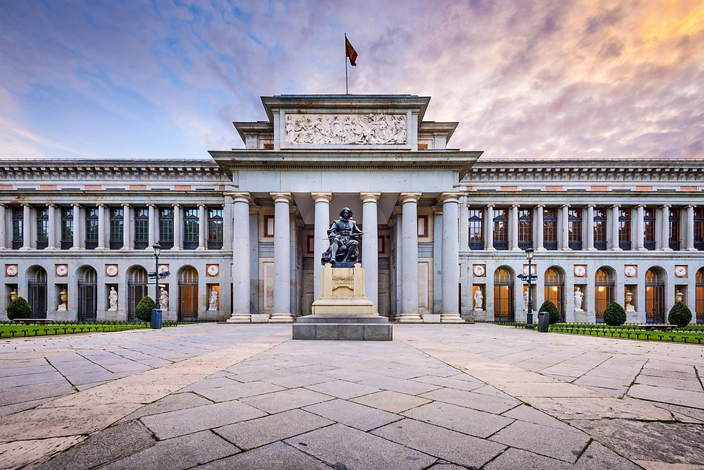 Museo Nacional del Prado, the main Spanish national art museum, located in central Madrid.