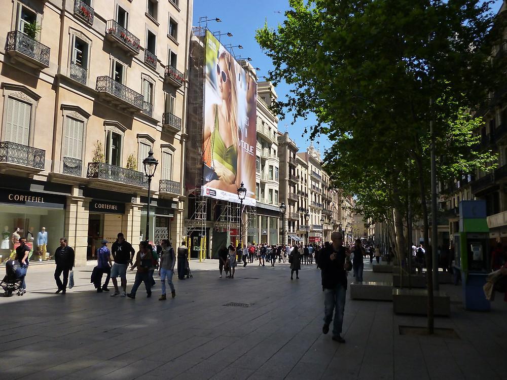Portal de l'Ángel for Shopping in Barcelona