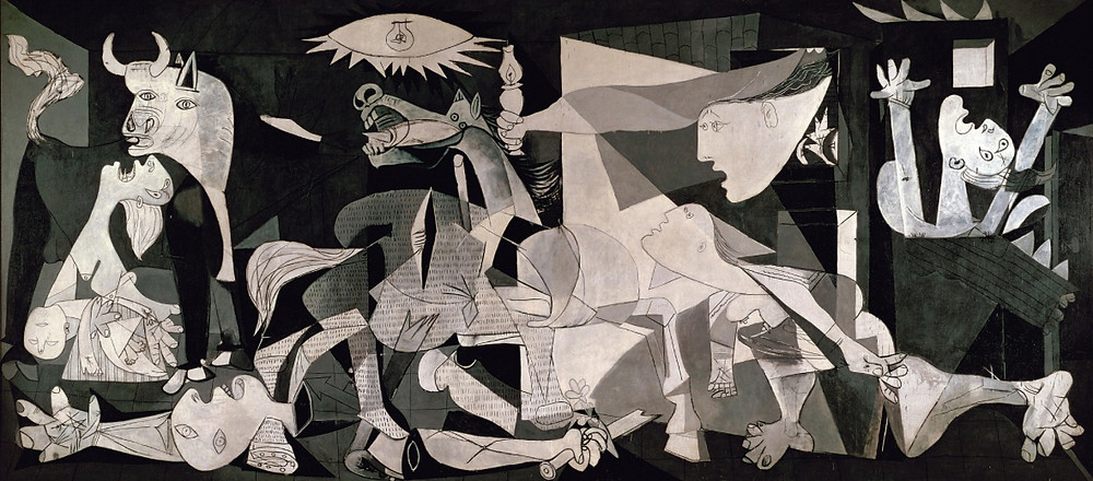 """Image of the renowned """"Guernica"""" painting by Pablo Picasso"""