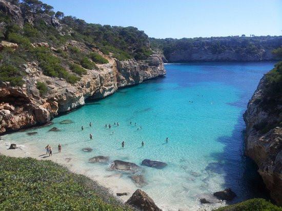 Caló d'es Moro in Mallorca Spain
