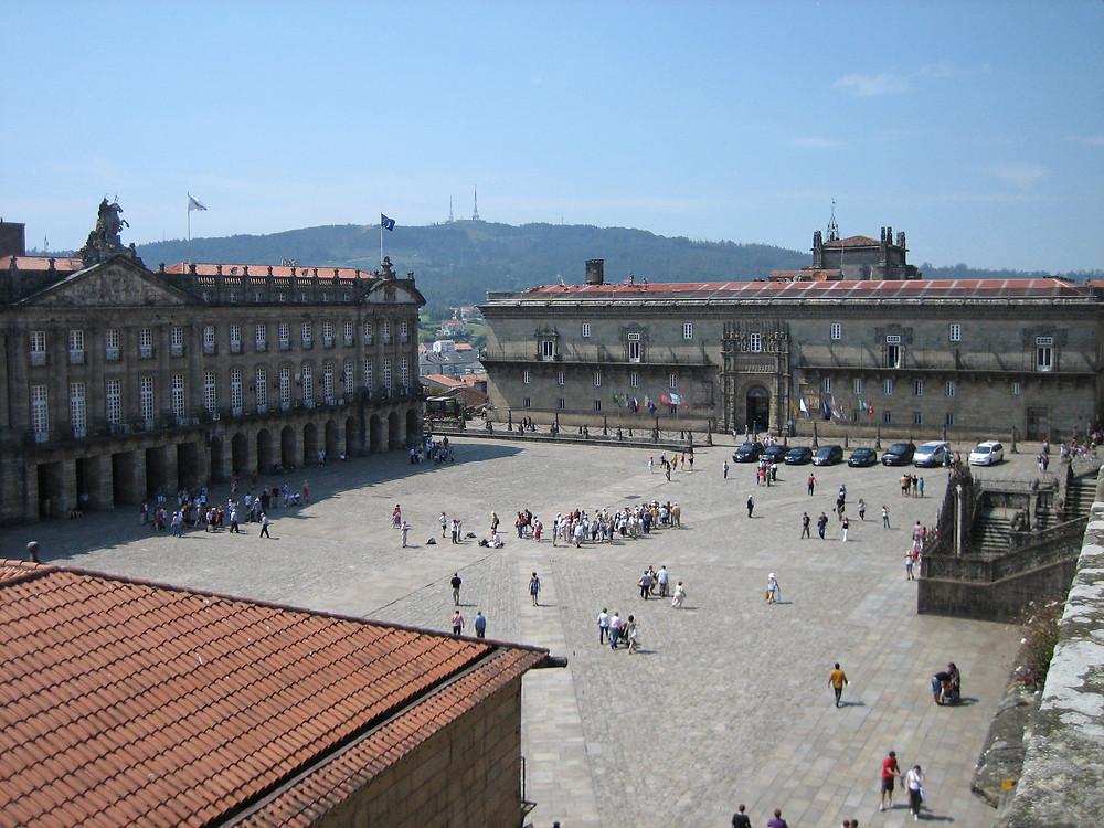 Praza do Obradoiro in Santiago de Compostela