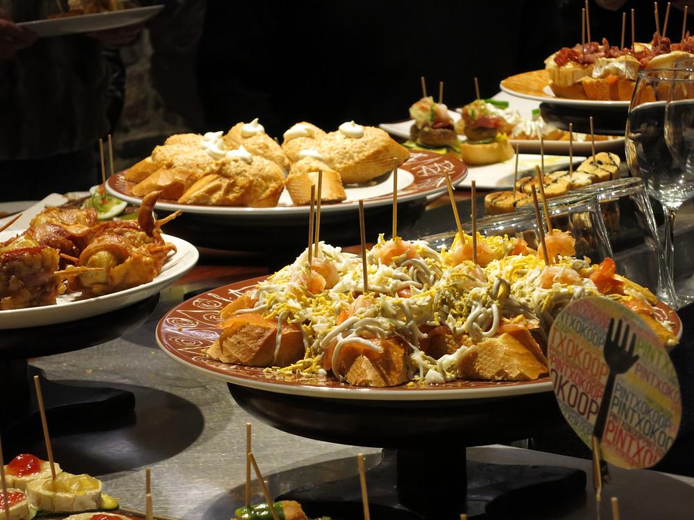 Pintxos - San Sebastian's famous form of tapas in Restaurants