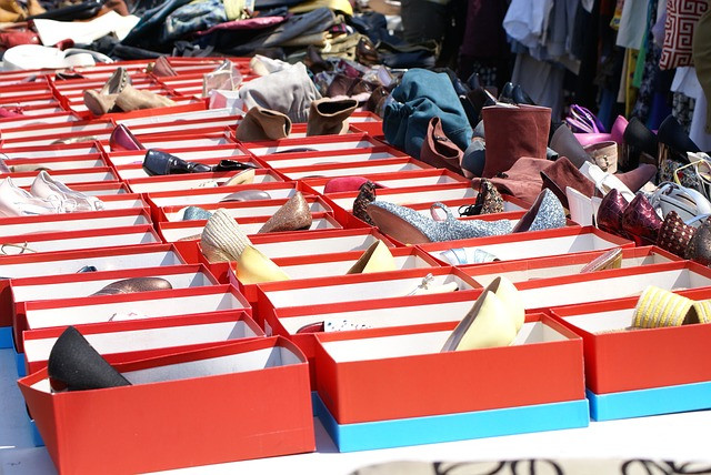 Shoes, glorious shoes at El Rastro Market!