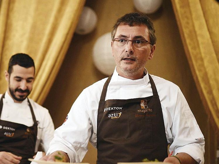 Andoni in his restaurant Mugaritz