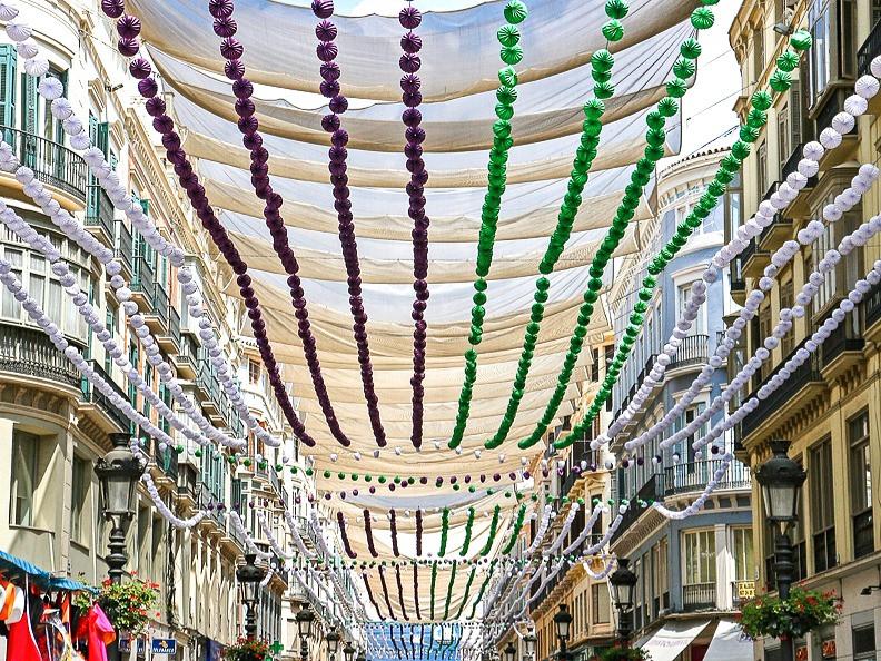 Malaga Feria decoration