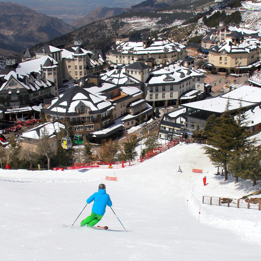 Skiing at Sierra Nevada, Spain
