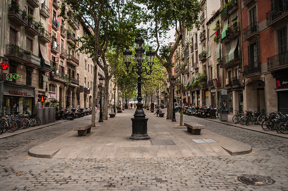 View from a walk down Passeig del Born