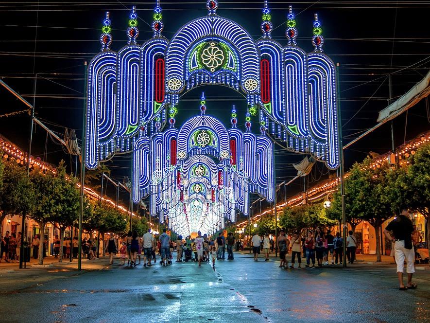 Malaga Feria Lights in Spain
