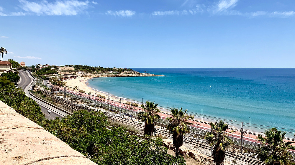 View of the Platja del Miracle in Tarragona, Spain