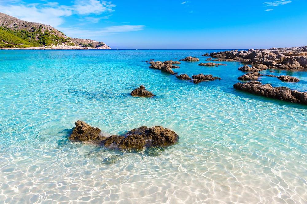 Cala Agulla in Mallorca Spain