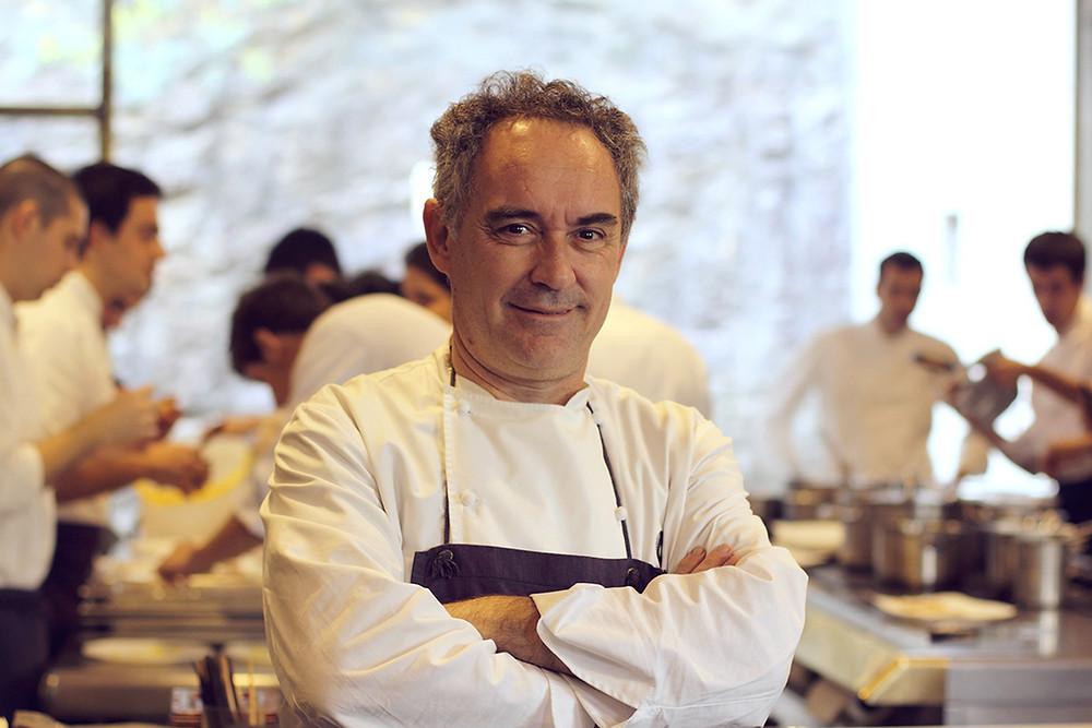 Ferran Adrià portrait in El Bulli's kitchen
