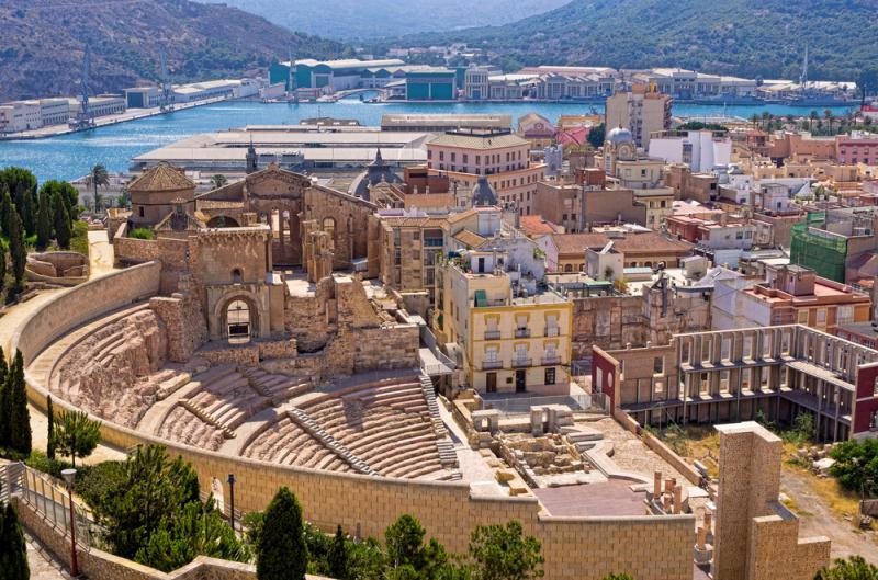 Cartagena, Spain in Fall
