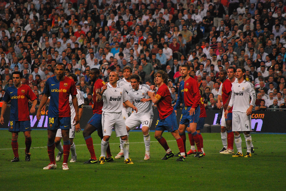 FC Barcelona vs. Real Madrid Football in Spain