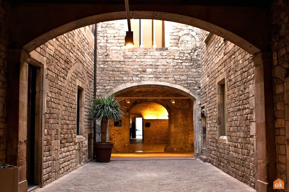 Corridor in the Museu Picasso in Barcelona