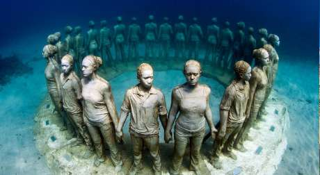 Underwater museum in the Canary Islands