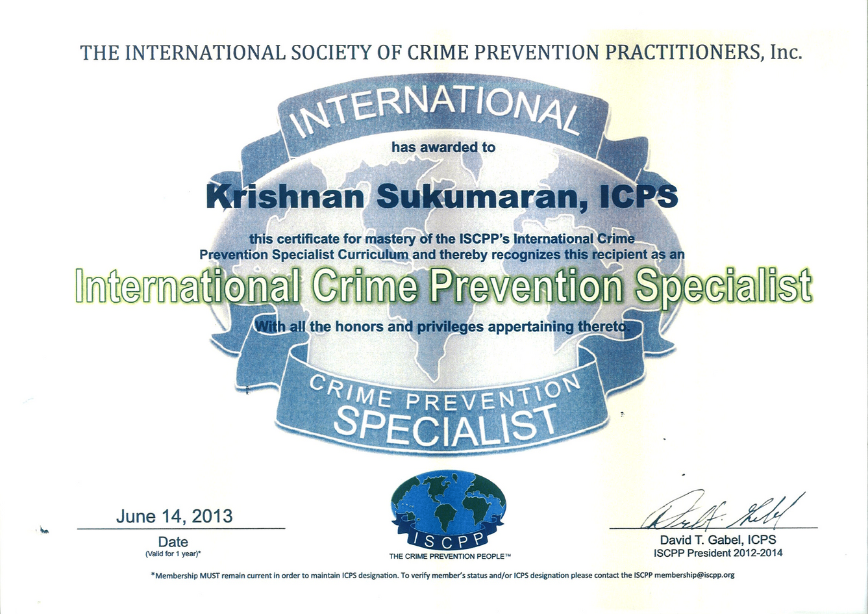 ISCCP 2013 - International Crime Prevent