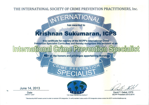 ISCCP 2013 - International Crime Prevent