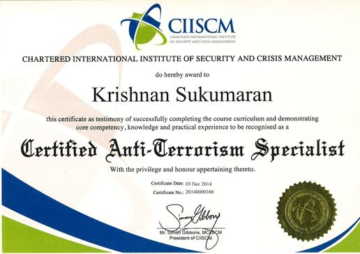 CIISCM-CERTIFIED ANTI-TERRORISM SPECIALI