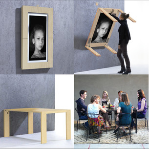 PICTURE TABLE, A FOLDING TABLE BY VERENA LANG   PICTURE TABLE, UNA MESA PLEGABLE DE VERENA LANG