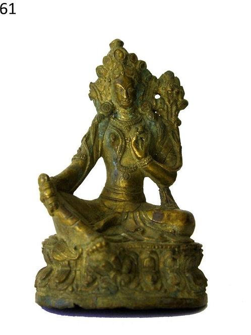 Feuer vergoldete Indische Göttin Tara mehr als 180 jahre alt