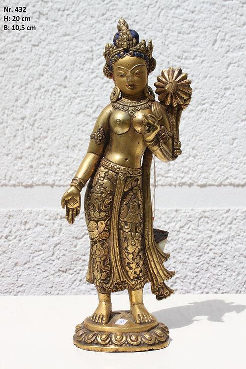 Feuer vergoldete Indische Göttin Tara mehr als 160 Jahre alt