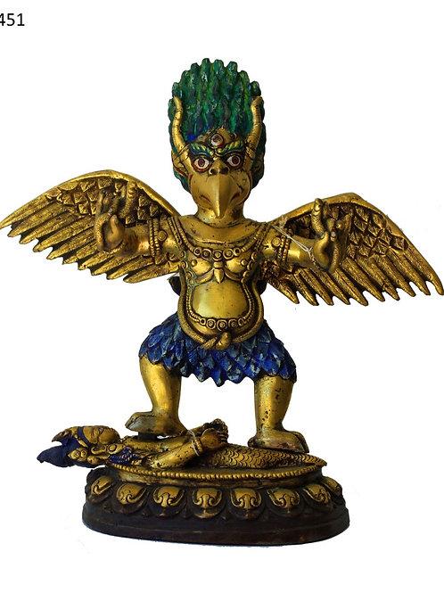 Feuer vergoldeter Däemon Gott mehr als 150 Jahre alt