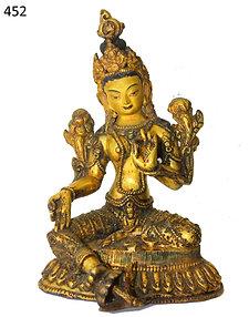 Feuer vergoldete Indische Göttin Tara mehr als 190 Jahre alt