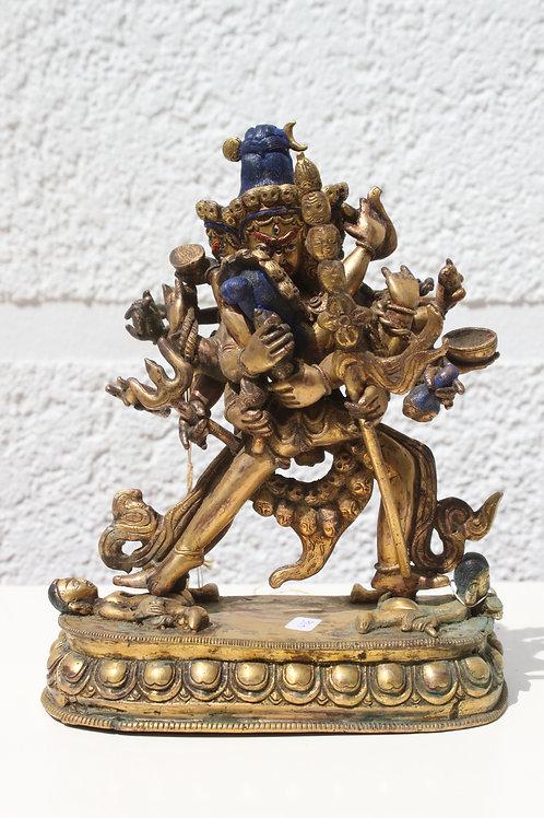 Feuer vergoldete Göttheit Chakrasamvara mehr als 150 Jahre alt