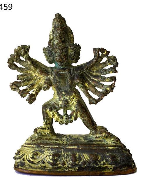 Feuer vergoldete Göttheit Chakrasamvara mehr als 170 jahre alt