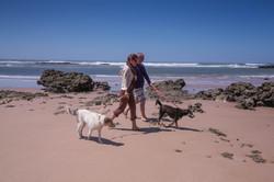 Walkies on the beach