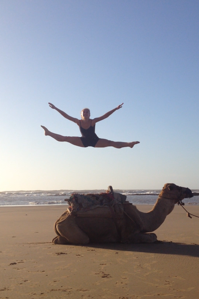 Camel acrobatics!