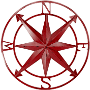 Burgundy Compass Rose.png