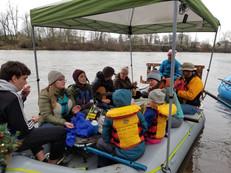 Winter Solstice Sing-a-Long Willamette float 2019
