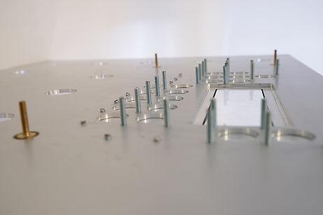 Retro di pannello sinottico in alluminio