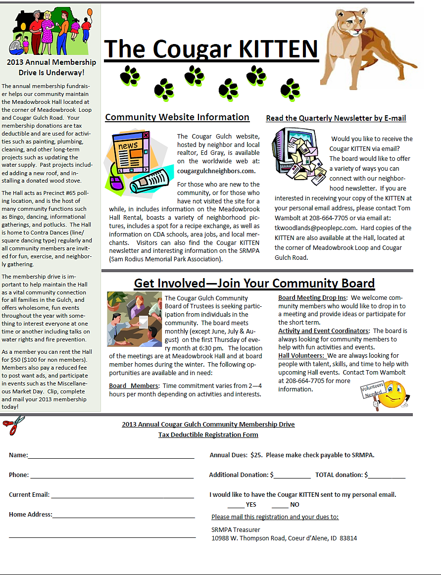 community archived newsletters sep dec