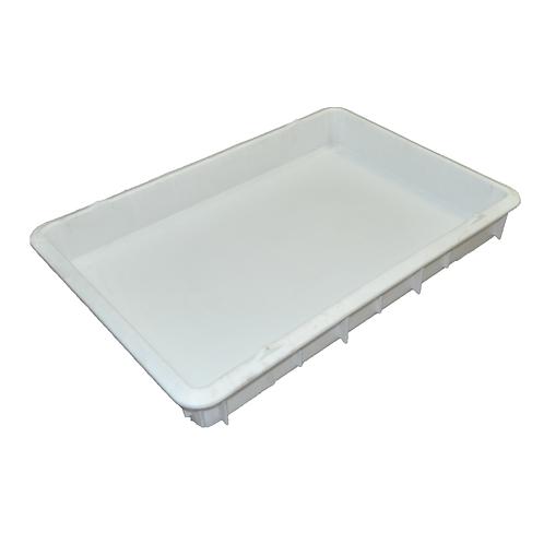 Charola plástica blanca sin orificios