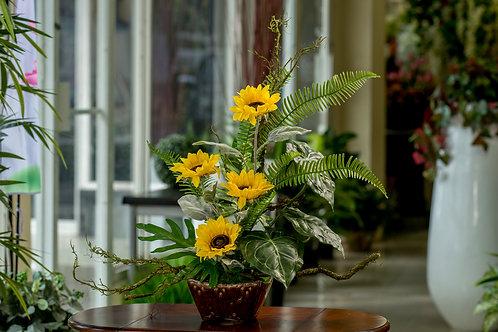 Fresca composición floral