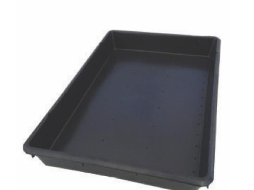 Charola de plástico negro