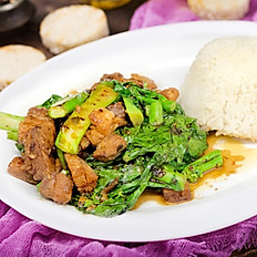 Crispy Pork with Chinese Broccoli