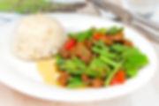 Crispy pork Kaprow (basil)