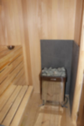 """Печь Harvia T9 в сауне в Спортклубе """"Орбита"""", Климовск, Гривно"""