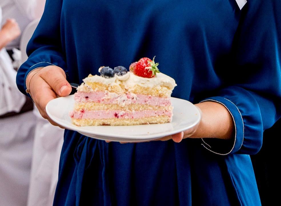 Stück Kuchen Hochzeitstorte