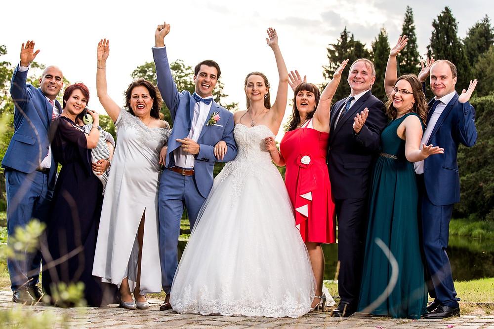 Landhaus Restarant Botanischergarten Berlin Hochzeit familienfoto