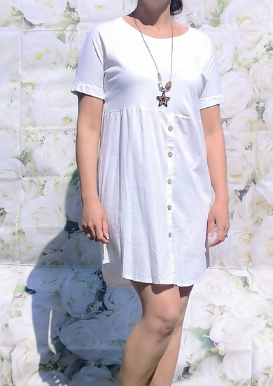 Summer Button Dress with Necklace