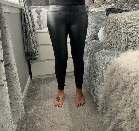 High Waist Sleek PU Leggings
