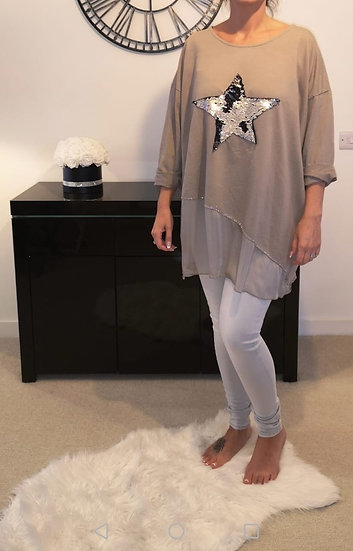 Sequin Star Layer Top