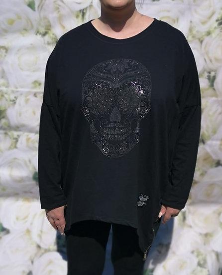 Skull Oversized Top