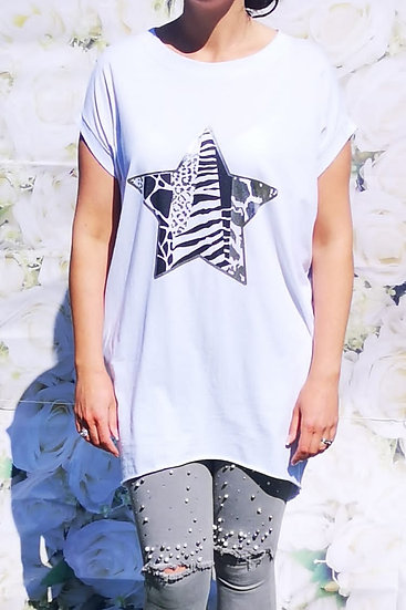 Animal Print Star T-Shirt