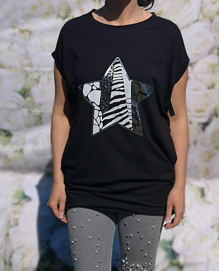 Animal Print Star T-Shirt